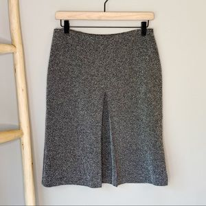 Express flecked speckled deep front pleat skirt M